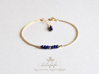 ■tiny stone bracelet■ラピスラズリの画像