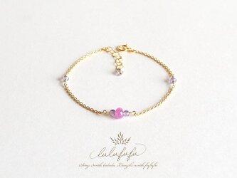 ■Assez et mignon■Sapphire and Amethyst braceletの画像