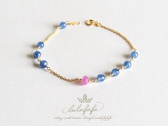 ■asymmetry bracelet■Sapphire and Kyaniteの画像