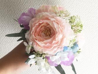 orange× greenミニブーケ -Liberty bouquet-の画像