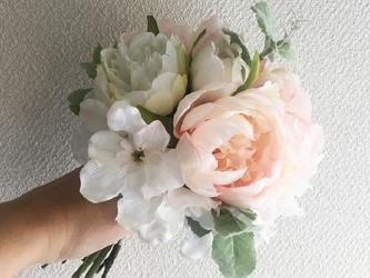 pink× whiteブーケ -Liberty bouquet-の画像