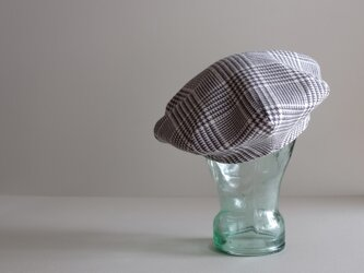 ◆ sale ◆ ベレー帽 - ブリティッシュ・グレナカートチェック・フランネル -の画像