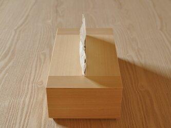 ティッシュケース(ヒノキ)の画像