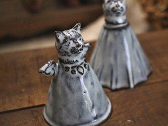 【受注制作】ちいさな猫のミニベル(天使)の画像