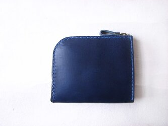 L字ファスナーの財布(ネイビー)の画像