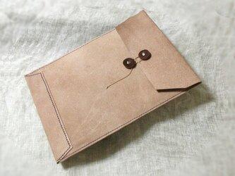 【再販】床革のマニラ封筒v2 A4ファイル対応の画像