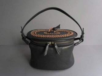 pot-oval (black)の画像