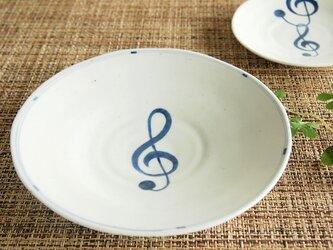 Jazz 見込みト音記号5寸皿の画像