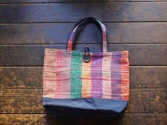 手織り ナイロントートバッグLの画像
