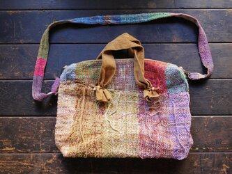 手織り ルーズショルダーバッグの画像