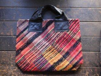 手織り ビッグトートバッグの画像