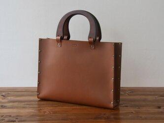 [国産牛本革]レザーバッグ NLW(ブラウン)SToLY Leather Bag/ストーリー レザーハンドバッグの画像