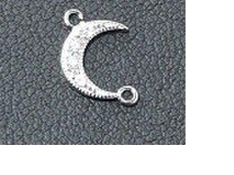 【アクセサリージョイント・トップ】Moon丸環2個付きの画像
