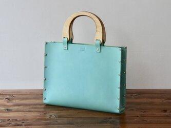 [国産牛本革]レザーバッグ NLW(ターコイズ)SToLY Leather Bag/ストーリー レザーハンドバッグの画像