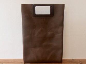 [本革]レザーバッグ NLWG(ダークブラウン)SToLY Leather Bag/ストーリー レザーハンドバッグの画像