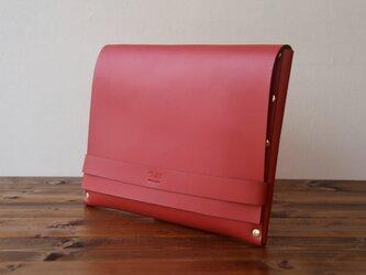 [本革]クラッチバッグ NCL(レッド)SToLY Leather Bag/ストーリー レザーバッグ レザークラッチバッの画像