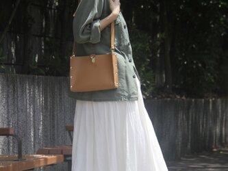 [本革]ショルダーバッグ NSB(ベージュ)SToLY Leather Bag/ストーリー レザーショルダーバッグの画像