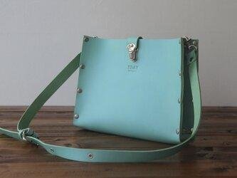 [本革]ショルダーバッグ NSB(ターコイズ)SToLY Leather Bag/ストーリー レザーショルダーバッグの画像