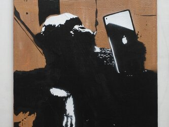 タブレットチンパンジー F10サイズ絵画の画像