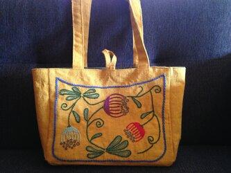 トートバッグ*黄土色の画像