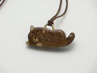 桂の猫ペンダント P1233の画像