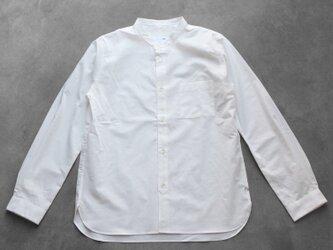 バンドカラーコットンシャツ[ユニセックスsize3]の画像