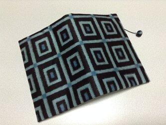 ★再販★   357    着物リメイク    銘仙    幾何学模様   文庫サイズブックカバーの画像