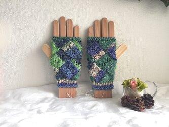 ★☆手編みの指なし手袋(洗濯機で洗えます♪)☆★の画像