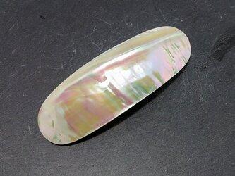 シェルバレッタ(夜光貝バレッタ)L-YB-18の画像