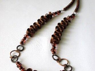 リボンデザイン のネックレス  の画像