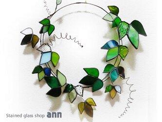 ステンドグラス アイビーリースA171014-Gの画像