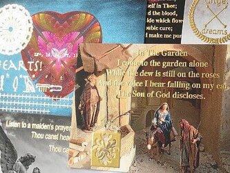 金箔ヒエログリフ「天使マリア紋章A 」厚盛メッセージカード 5枚セット GLICAの画像