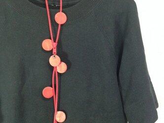 ファスナーネックレス・赤の画像