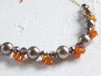 ネックレス・オレンジフリンジの画像