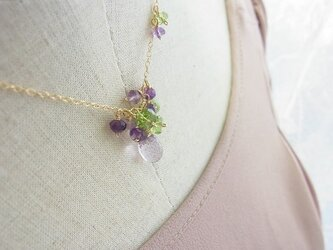 『紫陽花』14kgfネックレスの画像