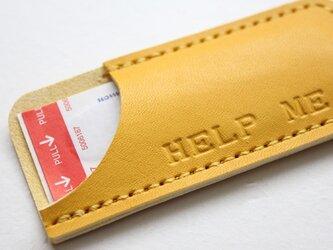 絆創膏ケース/ HELP ME イエロー色  受注制作の画像