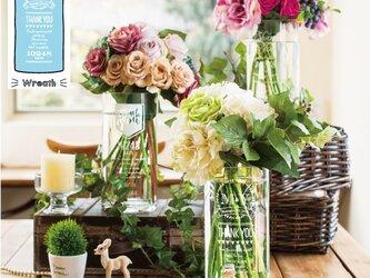 ご両親贈呈品 Thankful Flower Vase 【Wreath リース】 【送料無料】 【ウェディング】の画像