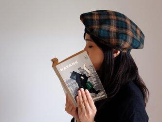 ◆ sale ◆ ベレー帽 - ブリティッシュ・タータンチェック・フラノ Green & Camel -の画像