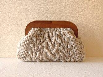 【受注制作】木製がまぐち アランニットバッグ *kiichigo・BE*の画像