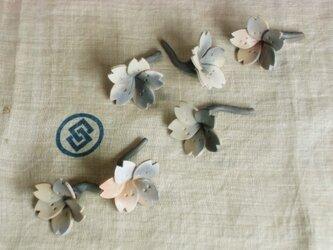 桜の箸置き* 焼き締めの画像