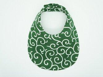《ふんわり撥水スタイ》唐草模様・緑の画像