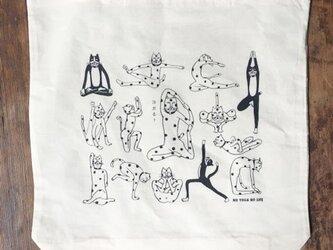 ネコヨガ マチ付きエコバッグの画像