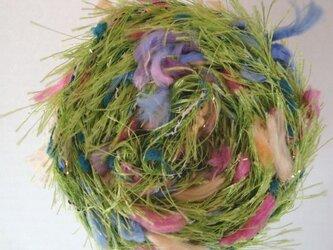 グリーンフサフサ糸の画像