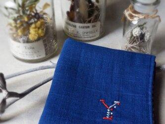 手刺繍入り4重ガーゼハンカチ「イニシャルY」[受注制作]の画像
