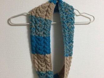【キッズ用 TUTTO社Opal使用】【一点もの】マルチカラーのスヌード 手編みの画像