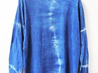 藍染め長袖 綿Tシャツ S ユニセックス メンズ(ANT-36)の画像