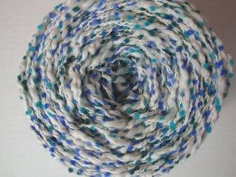 ブルーポコポコ&フワフワ糸の画像