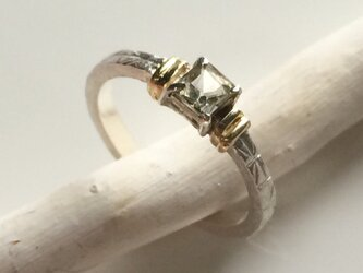 スモーキートルマリンのsilver&goldリングの画像