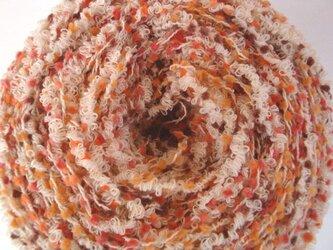オレンジツブツブ&クリクリ糸の画像