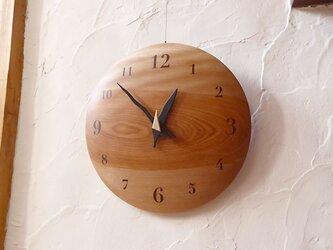 ミズメ 26㎝ 曲面時計 euph 002s 文字盤茶色の画像
